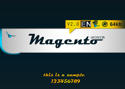 فونت لاتین magento