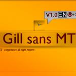 دانلود فونت لاتین Gill Sans MT
