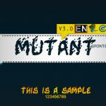 فونت لاتین mutant
