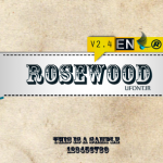 فونت لاتین rosewood