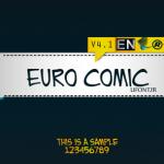 فونت لاتین euro comic