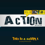 فونت لاتین Action of the Time UPPER CASE