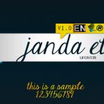 فونت لاتین janada elegant handwriten