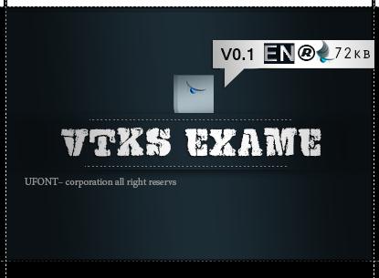 دانلود فونت لاتین VTKS EXAME