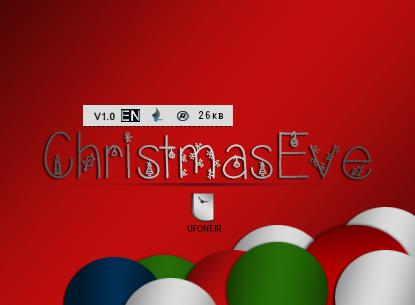 دانلود فونت لاتین Christmas Eve