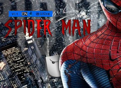 دانلود فونت لاتین مرد عنکبوتی