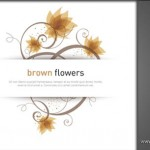 دانلود وکتور گل قهوه ای