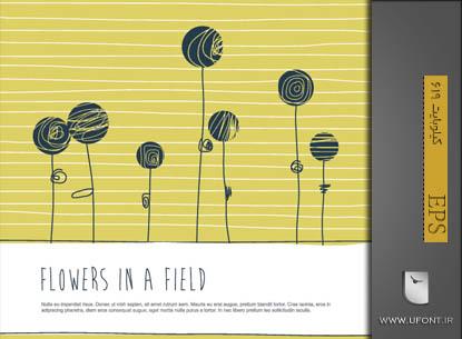 دانلود وکتور فانتزی پوشه گل