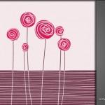 دانلود وکتور گلهای فانتزی صورتی