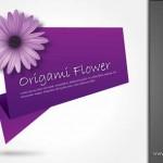 دانلود وکتور گل اورگامی