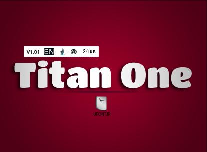 دانلود فونت لاتین Titan One