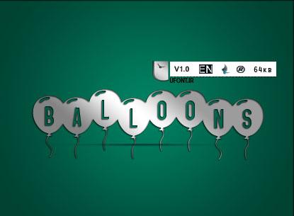 دانلود فونت لاتین Baloon