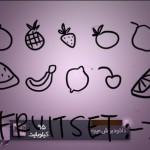 مجموعه براش میوه ( اسکچ )
