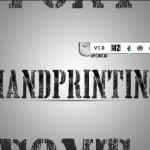 فونت لاتین handyprinting