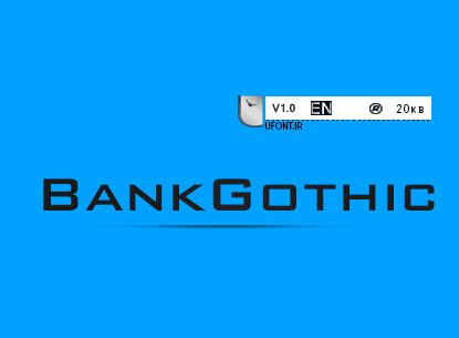 دانلود فونت لاتین BankGothic