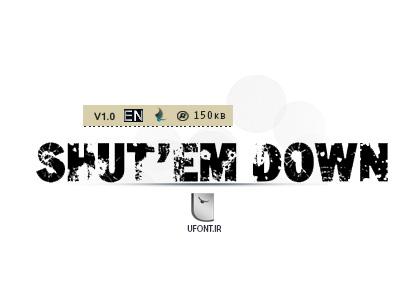 دانلود فونت لاتین shutem down - پیشنمایش