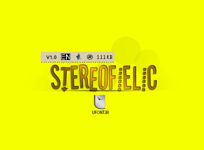 دانلود فونت لاتین Stereofidelic