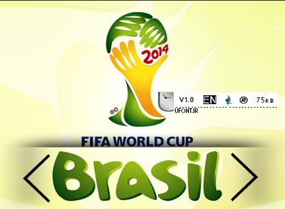 دانلود فونت اورجینال جام جهانی ۲۰۱۴