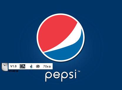 دانلود فونت اورجینال شرکت Pepsi