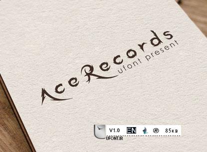 دانلود فونت لاتین ace records
