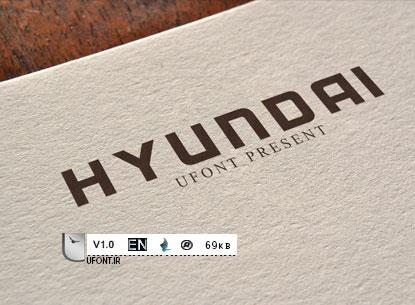 دانلود فونت شرکت Hyundai