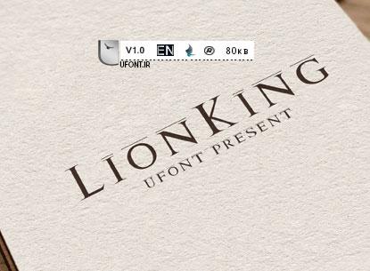 دانلود فونت لاتین و زیبای lion-king
