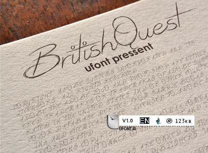 دانلود فونت لاتین british-quest
