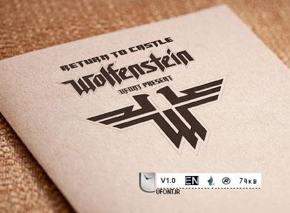دانلود فونت لاتین بازی wolfenstein - پیشنمایش