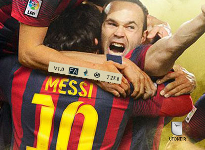 دانلود فونت لاتین FC Barcelona