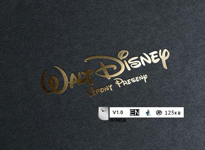 دانلود فونت لاتین Walt Disney