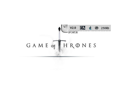 فونت لاتین Game Of Thrones