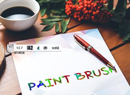فونت لاتین Paint Brush