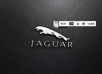دانلود فونت لاتین Jaguar cars