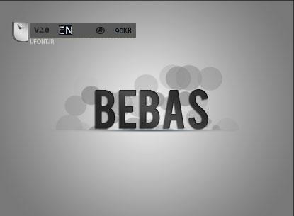 دانلود فونت لاتین Bebas