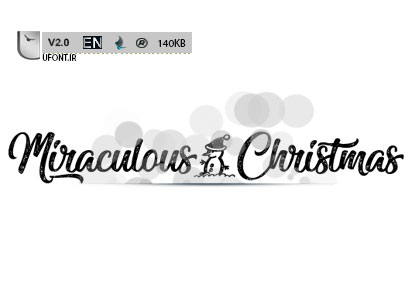 دانلود فونت miraculous and christmas