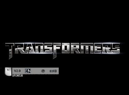 دانلود فونت فیلم transformers (تبدیل شوندگان)