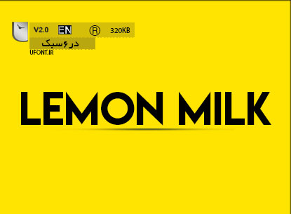 فونت لاتین Lemon Milk