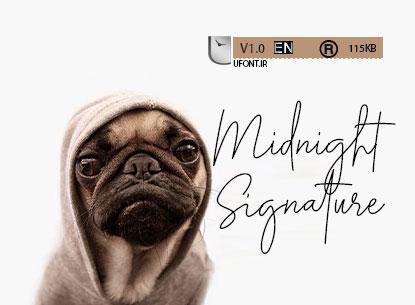 دانلود فونت midnight signature