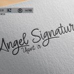 دانلود فونت لاتین angel signature