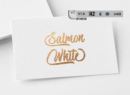 فونت لاتین Salmon White